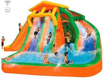 Orange And Blue 0.55mm PVC Tarpaulin Inflatable Water Slide/New design Backyard Slide