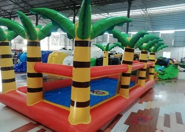 Orange Amusement 0.9mm 10*4.7m Inflatable Swimming Pools