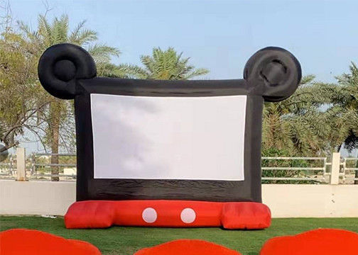 0.45 mm PVC Commercial Rental Outdoor Inflatable Film Screen For Family Enjoyment