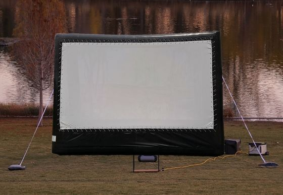 6*4 m Outdoor Inflatable Movie Screen / Projection Film Screen For Advertisement