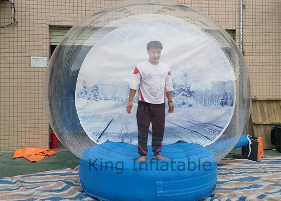 Human Size Inflatable Christmas Decoration Inflatable Snow Globe Dome Bubble For Take photos
