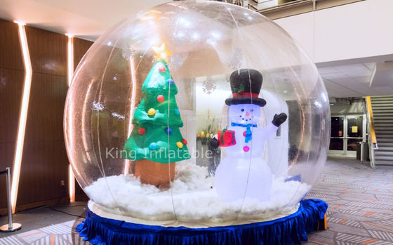 Giant Inflatable Christmas Snow Globe Inflatable Christmas Decoration For Outdoor Event