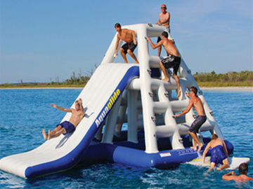 Adults 3.7mH Inflatable Floating Water Slide EN71 Plato PVC For Parks