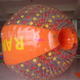 Cushion Inflatable Zorb Ball / Color D-Ring Inflatable Ball Zorb Rollig With Ramp
