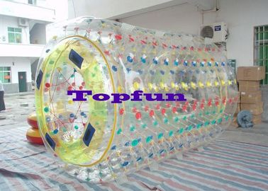 Cylindrical PVC / TPU Inflatable Rolling ball Ball With Multicolored D Ring