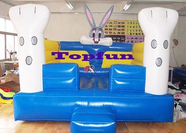 Oxford Fabric 13 Feet Kids Modular Bouncer / Inflatable Jump Houses With Bunny Design