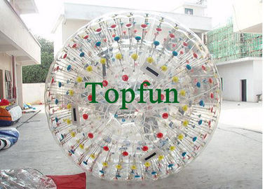 Customized Amusement Inflatable Zorb Ball / Colour Ball Zorb With  For Festival Playing