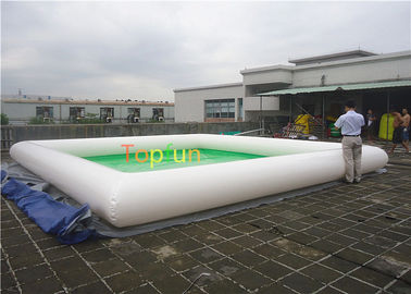 China Light green / white color 7 x 7 m Inflatable water pool , inflatable swimming pool 0.65 factory