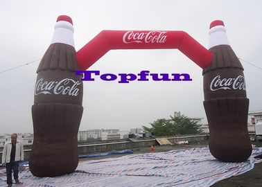 Coca Cola Bottle Shape Inflatable Arches For Advertising / Inflatable Entrance Arch