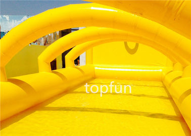 China 0.9mm thickness PVC tarpaulin Inflatable water pool with arch roof above factory