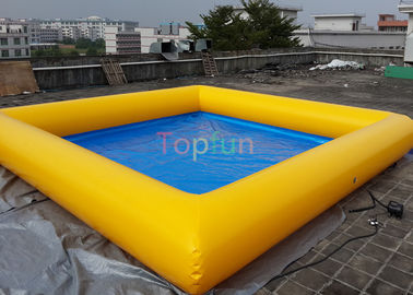 China 0.9 Mm PVC  8 X 8 M Square Inflatable Water Pool , Swimming Pool For Family factory