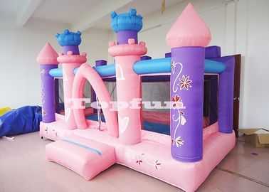 Pink Commercial Princess Bouncy Dream Houses For Toddler / Kids Soft Play