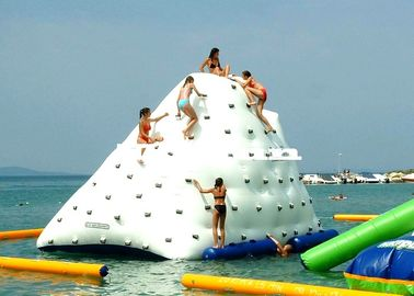 Inflatable Water Parks Iceberg For Lake / Swimming Pools Amusement