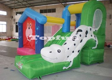 Amusement Park Commercial Bouncy Castles With Dalmatians Slides For Rental
