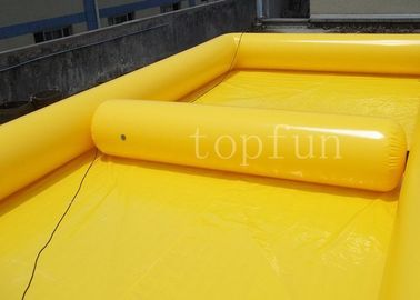China Yellow Square Outdoor Inflatable Water Pools PVC For Water Walking Ball factory