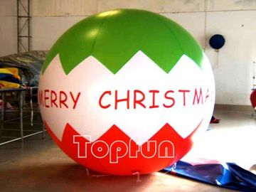 Christmas Advertising Inflatable Balloon 3M Diameter PVC For Promotion