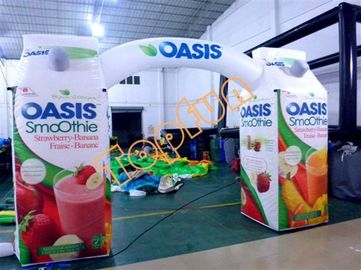 210D PVC Coated Oxford Fabric Inflatable Arches For Commercial Promotion / Advertisement
