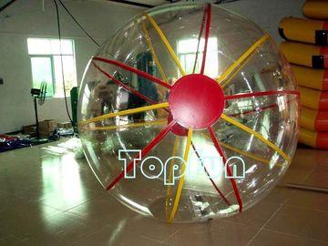 1.0mm TPU Zipper Colorful Water Balls Transparent For Amusemnt Park