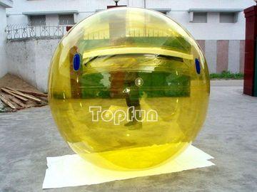 Amusemnt Inflatable Walk On Water Ball 1.0mm PVC Ti-Zip Yellow