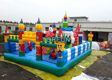 Inflatable Disney Amusement Park With Mickey Mouse And Donald Duck