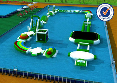 Customized Inflatable Water Parks , 0.9mm PVC Water Playground Equipment