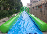 City Outdoor Giant PVC Inflatable Slip N Slide / Water Slide 100m For Adults
