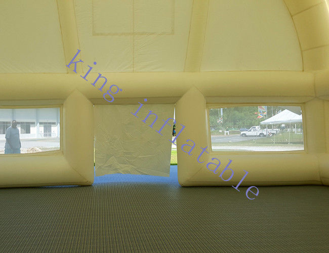 40 X 10 X 6 M PVC White Inflatable Event Tent With Strong Wind Resistance