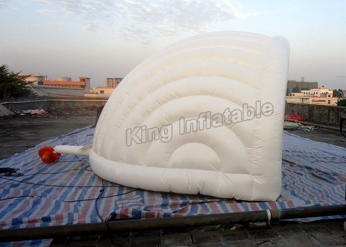 White Shell PVC Tarpaulin Inflatable Event Tent Wedding Golf Tent 5.0*3.8*4.0m