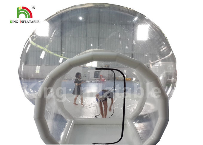 6m Diameter Transparent Inflatable Bubble Tent With Tunnel For Outdoor Camping Rent