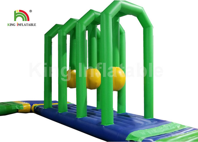 Air Tight Colorful Green Combo Floating Inflatable Water Parks For Beach Sea 12 Months Warranty