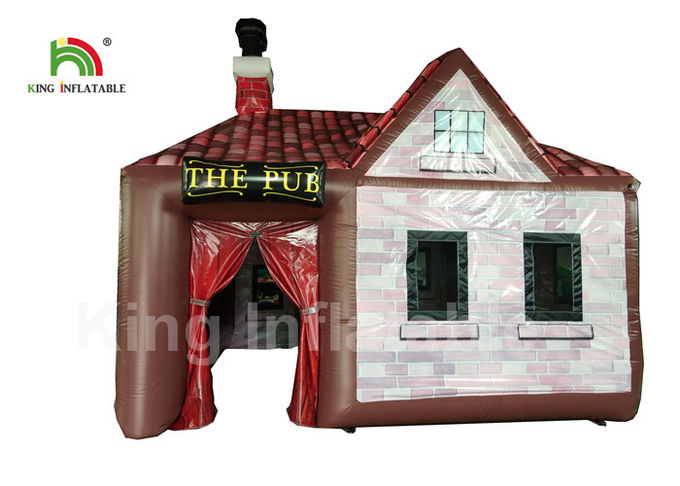 Customized 5x5m PVC Inflatable Event Tent Single Door For Party Bar EN71